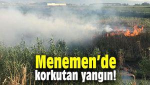 Menemen'de korkutan yangın!