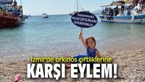 İzmir'de orkinos çiftliklerine karşı eylem!