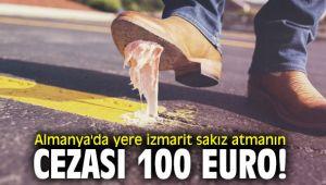 Almanya'da yere izmarit sakız atmanın cezası 100 euro!