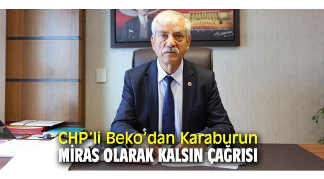 CHP'li Beko, Karaburun Yarımadası'nda yaşanan çevre sorunlarına dikkat çekti!