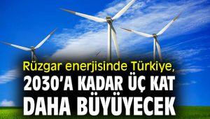 Rüzgar enerjisinde Türkiye, 2030'a kadar üç kat daha büyüyecek