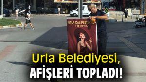 Urla Belediyesi, Afişleri topladı!